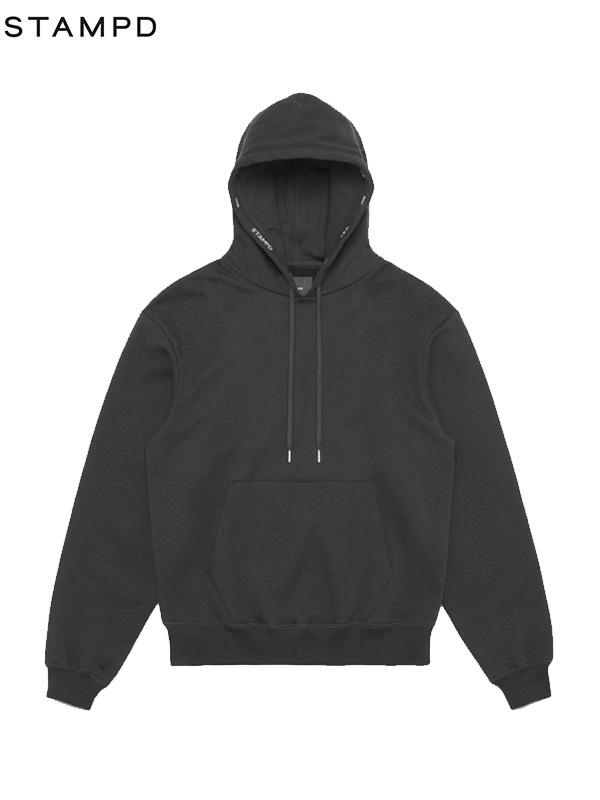 画像1: 【STAMPD - スタンプド】Post hoodie / Black (パーカー/ブラック) (1)