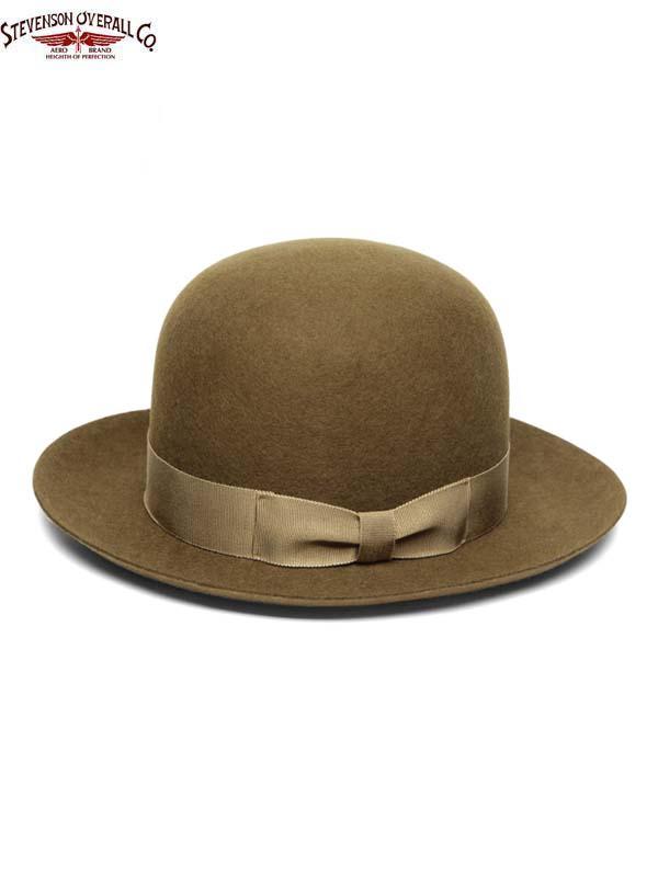 画像1: 【STEVENSON OVERALL Co. - スティーブンソン オーバーオール】Open Crown Hat (SOC x Stetson)/Bronze(ハット/ブラウン)  (1)