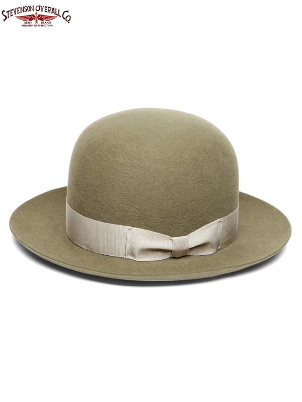 画像1: 【STEVENSON OVERALL Co. - スティーブンソン オーバーオール】Open Crown Hat (SOC x Stetson)/Olive Drab(ハット/オリーブ)  (1)