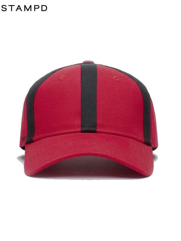 画像1: 30%OFF【STAMPD - スタンプド】Sports Cap W/Taping/ Red (ハット/レッド) (1)
