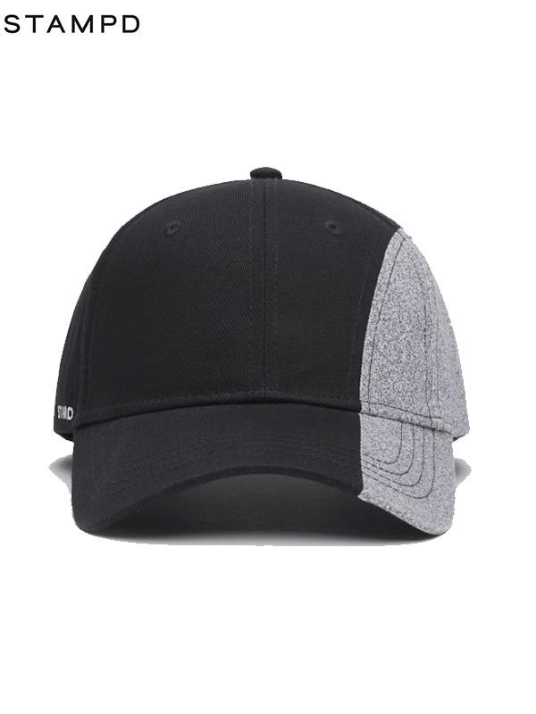 画像1: 【STAMPD - スタンプド】Split Seam Sport Cap/ Black (ハット/ブラック) (1)