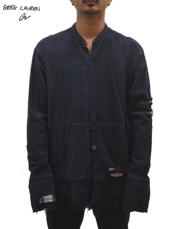 画像1: 【GREG LAUREN - グレッグローレン】Venice Night Studio Shirt With Pouch / Black (スタジオシャツ/ブラック) (1)
