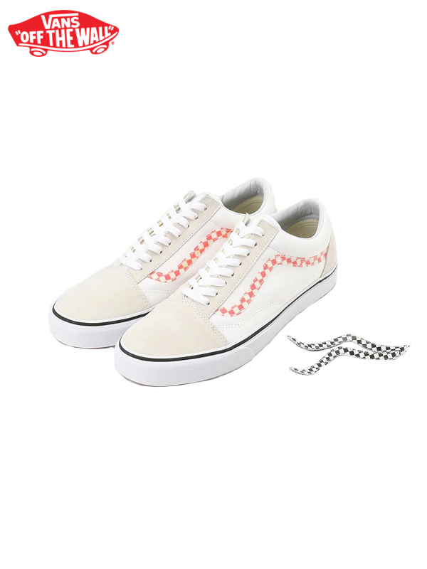 画像1: 【VANS - ヴァンズ】UA OLD SKOOL / (SIDESTRIPE V) TRUE WHITE/TRUE WHITE (スニーカー/ホワイト) (1)