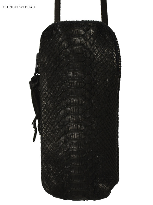 """画像1: 【Christian Peau - クリスチャンポー】CP MULTI CASE with SHOULDERP """"PYTHON"""" / Black(マルチケース/ブラック) (1)"""