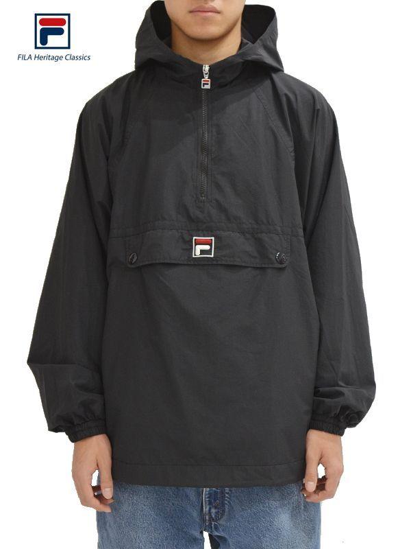 画像1: 【FILA HERITAGE - フィラ ヘリテイジ】Fila Anorak Jacket / Black (ジャケット/ブラック) (1)
