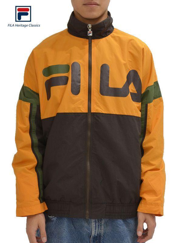 画像1: 【FILA HERITAGE - フィラ ヘリテイジ】Fila Wind-up Pullover Jacket / Brown (ジャケット/ブラウン) (1)