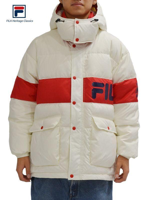 画像1: 【FILA HERITAGE - フィラ ヘリテイジ】Fila Down Coat / White (ジャケット/ホワイト) (1)