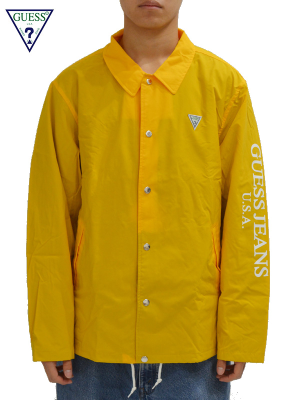 画像1: 【GUESS GREEN LABEL】Guess Coach Jacket/ Yellow(ジャケット/イエロー) (1)