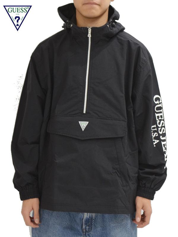 画像1: 【GUESS GREEN LABEL】Guess Anorack Jacket/ Black(ジャケット/ブラック) (1)