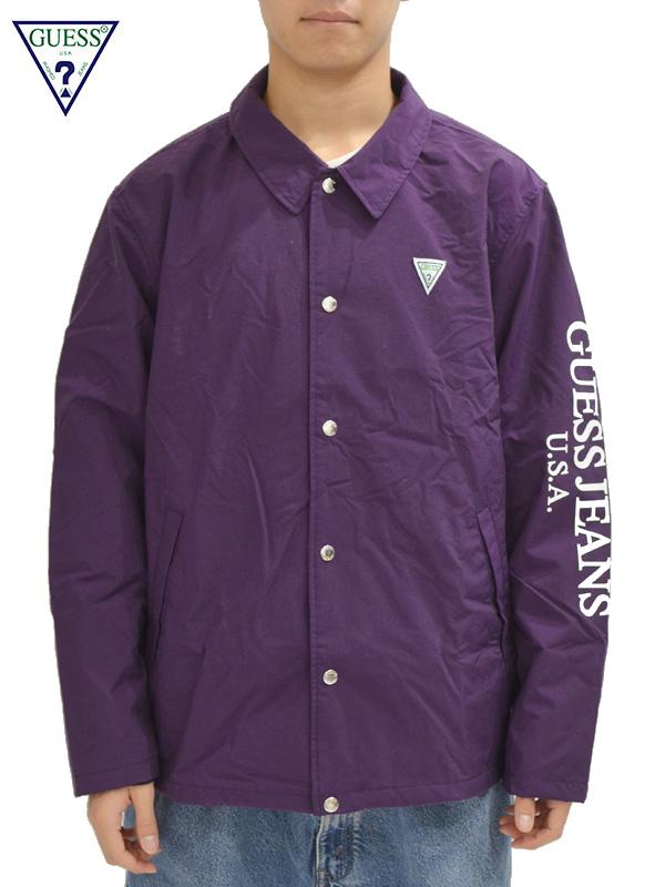 画像1: 【GUESS GREEN LABEL】Guess Coach Jacket/ Purple(ジャケット/パープル) (1)