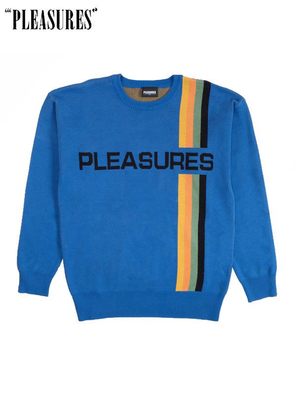 画像1: 【PLEASURES - プレジャーズ】Good Time Sweater / Blue(Sweat/ブルー) (1)