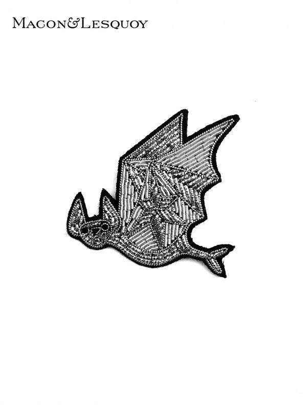 画像1: 【MACON&LESQUOY - マコン エ レスコア】Flying bat  (ブローチ/フライングバット) (1)