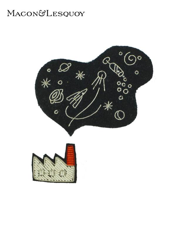 画像1: 【MACON&LESQUOY - マコン エ レスコア】Factory + cosmic smoke(ブローチ/ペア) (1)