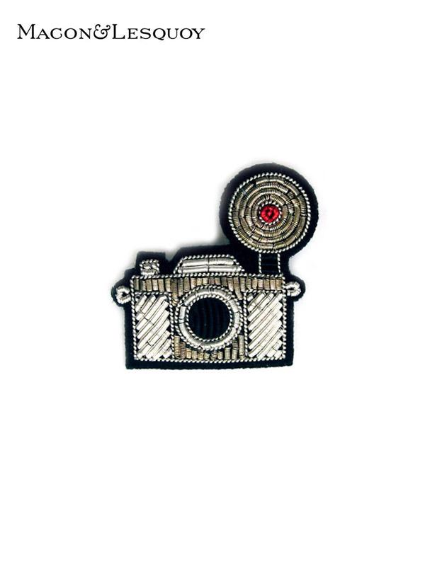 画像1: 【MACON&LESQUOY - マコン エ レスコア】Silver camera (ブローチ/カメラ) (1)