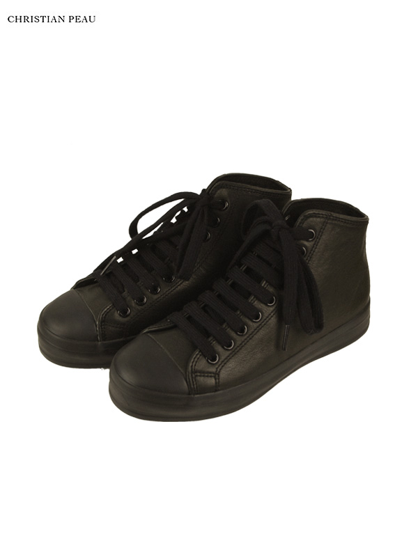 画像1: 20%OFF【Christian Peau - クリスチャンポー】High Top Sneaker / Cow Leather / Black(スニーカー/ブラック) (1)