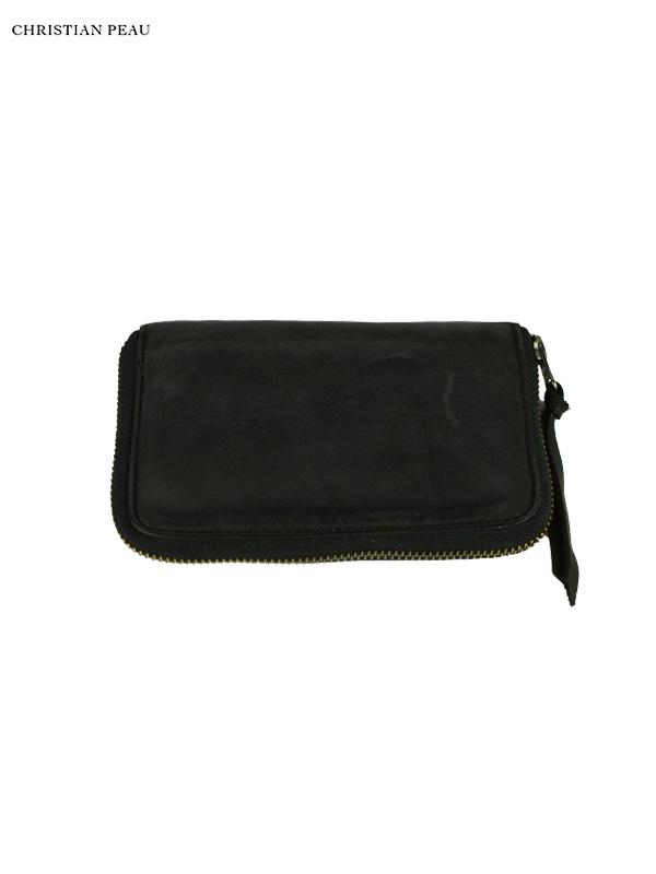 """画像1: 【Christian Peau - クリスチャンポー】B004 Wallet S """"Cow Leather"""" / Black(ウォレット/ブラック) (1)"""