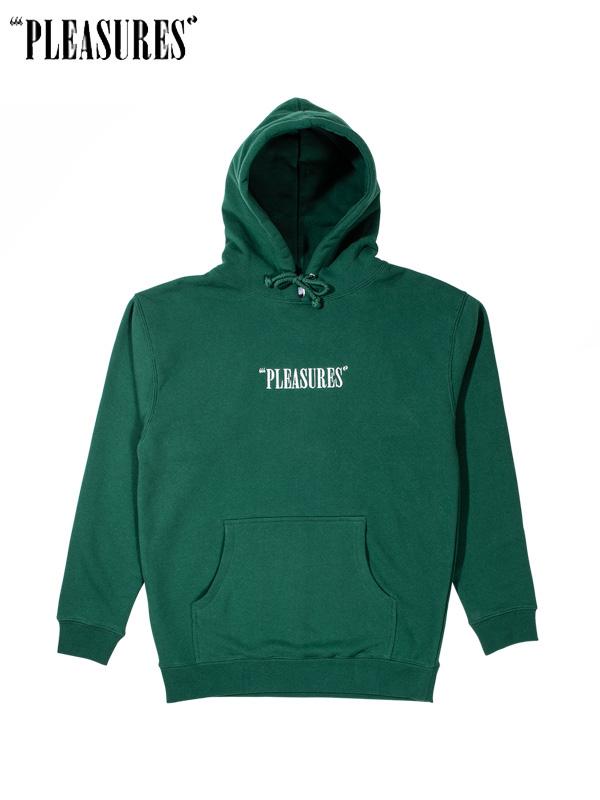 画像1: 【PLEASURES - プレジャーズ】 Core Logo Embroidered Hoodie / Green (パーカー/グリーン) (1)