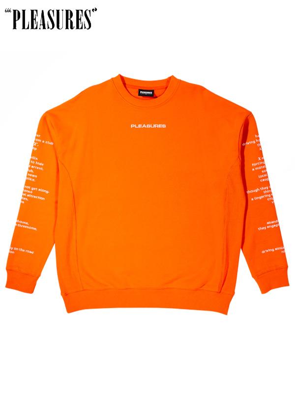 画像1: 【PLEASURES - プレジャーズ】Teenagelover Crewneck / Orange (スウェット/オレンジ) (1)