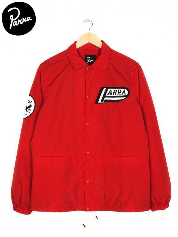 画像1: 【by Parra - バイ パラ】coach jacket not racing/Red(コーチジャケット/レッド) (1)