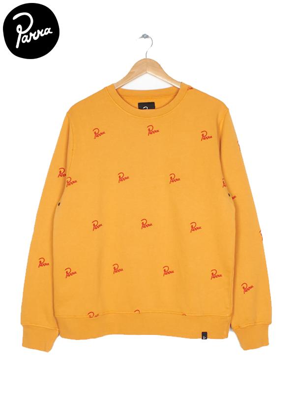 画像1: 【by Parra - バイ パラ】crew neck signature allover / overdyed gold yellow(スウェット/ゴールドイエロー) (1)