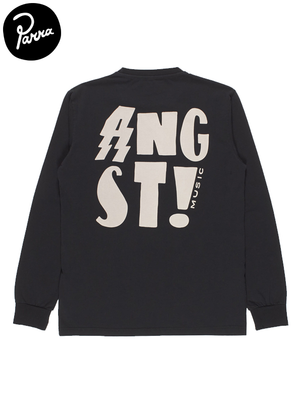 "画像1: 【by Parra - バイ パラ】Long Sleeve T-shirt ""angst music""/Black(Tシャツ/ブラック) (1)"