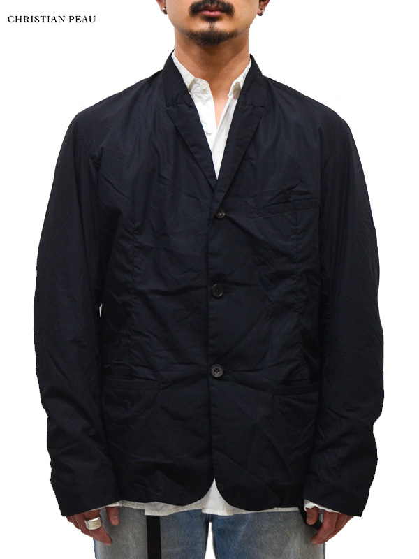 画像1: 【Christian Peau - クリスチャンポー】Tailored jacket/ Black(テーラードジャケット/ブラック) (1)