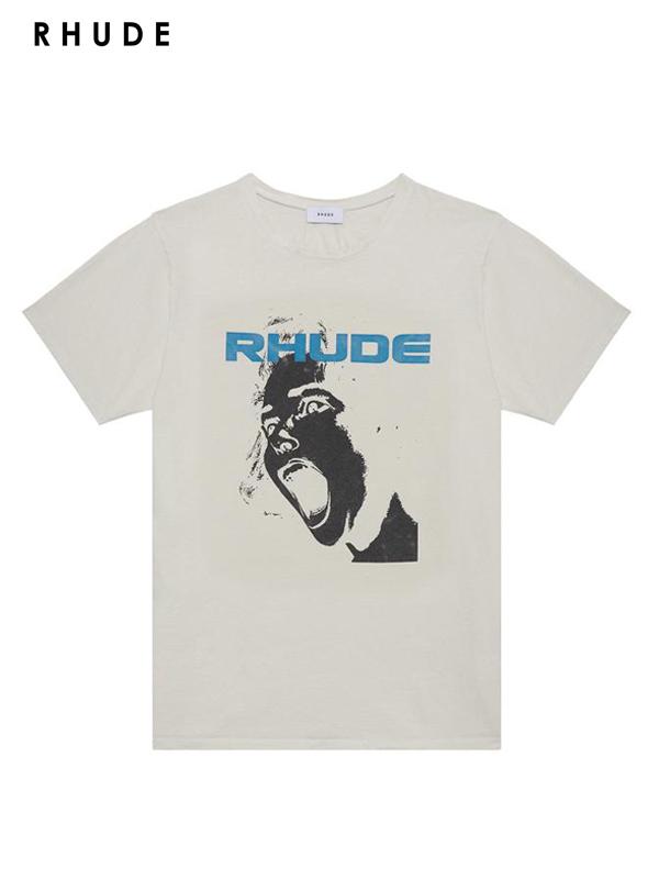 画像1: 【RHUDE - ルード】Scream Tee /White(Tee/ホワイト) (1)