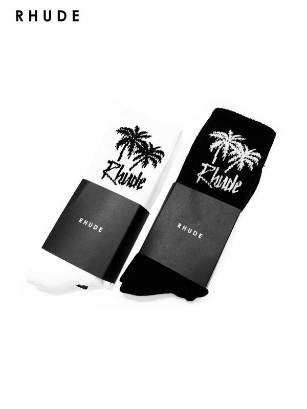 画像1: 【RHUDE - ルード】Palm Tree Socks (ソックス)  (1)