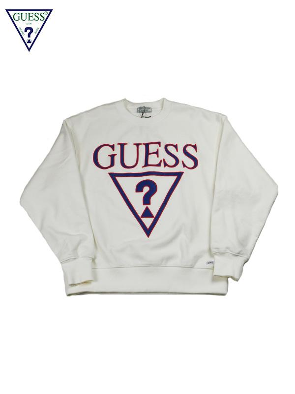 画像1: 【GUESS GREEN LABEL】Triangle Q Mark Sweater/ White(スウェット/ホワイト) (1)