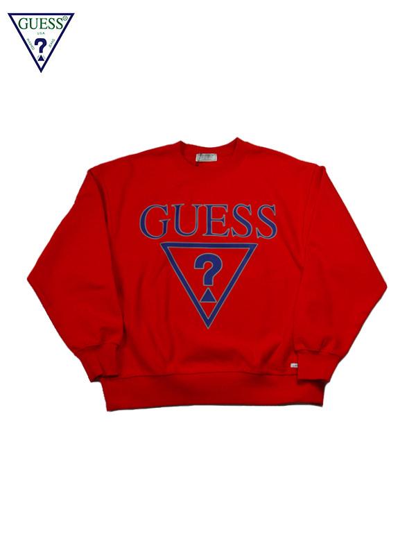 画像1: 【GUESS GREEN LABEL】Triangle Q Mark Sweater/ Red(スウェット/レッド) (1)
