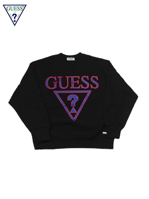 画像1: 【GUESS GREEN LABEL】Triangle Q Mark Sweater/ Black(スウェット/ブラック) (1)