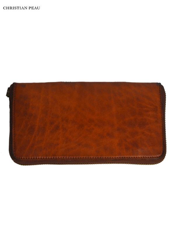 """画像1: 【Christian Peau - クリスチャンポー】B004 Wallet """"Cow Leather"""" / Natmeg(ウォレット/ナツメグ) (1)"""