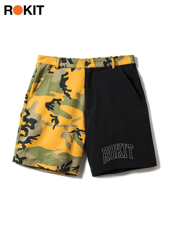 画像1: 【ROKIT - ロキット】The Playoff Shorts / Yellow (ボトムス/イエロー) (1)