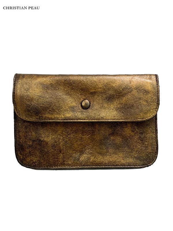 """画像1: 【Christian Peau - クリスチャンポー】CP W/S WALLET MEDIUM """"Cow Leather"""" / Gold(ウォレット/ゴールド) (1)"""
