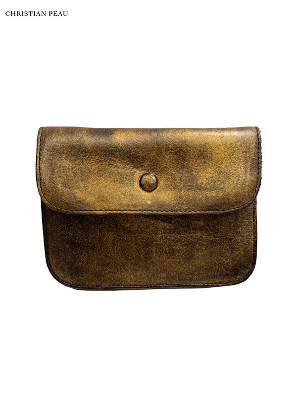 """画像1: 【Christian Peau - クリスチャンポー】CP W/S WALLET SMALL """"Cow Leather"""" / Gold(ウォレット/ゴールド) (1)"""