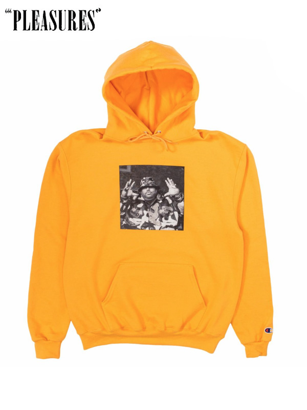 画像1: 20%OFF【PLEASURES × BIG PUN】 Christopher Champion Hoodie / Yellow (パーカー/イエロー) (1)