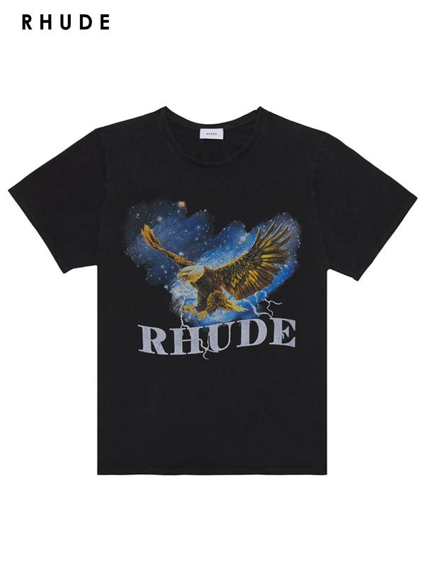 画像1: 20%OFF【RHUDE - ルード】Eagle Sky Tee /Black(Tee/ブラック) (1)