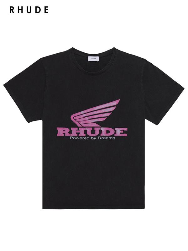 画像1: 20%OFF【RHUDE - ルード】Rhonda Tee /Black(Tee/ブラック) (1)