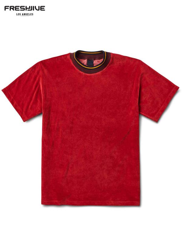 画像1: 【FRESHJIVE - フレッシュジャイブ】SKA SHIRT / RED (Tシャツ/レッド) (1)