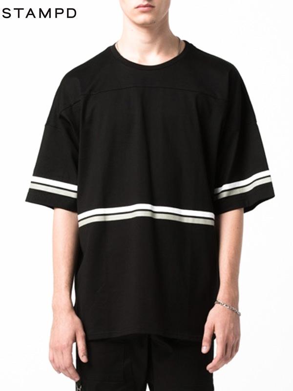 画像1: 【STAMPD - スタンプド】HOCKEY TEE / Balck (Tシャツ/ブラック) (1)