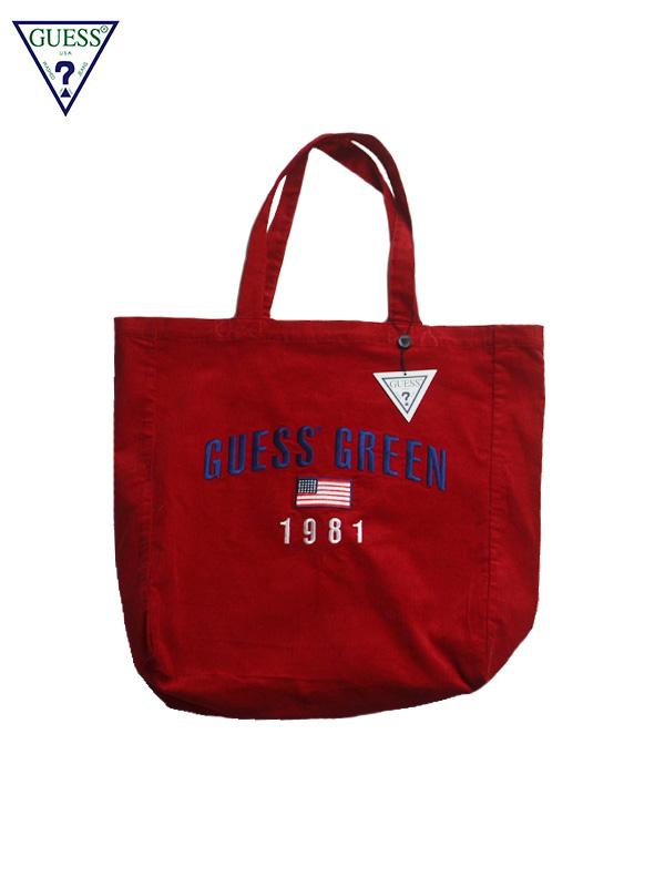 画像1: 【GUESS GREEN LABEL】Guess GN CDR Tote Bag/ Red(バッグ/レッド) (1)