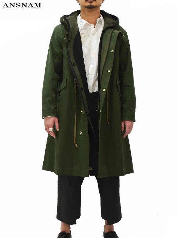 画像1: 【ANSNAM - アンスナム】Mods Coat / Green(モッッズコート/グリーン) (1)