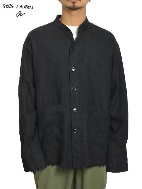 画像1: 【GREG LAUREN - グレッグローレン】Linen Studio Shirt / Black Linen (シャツ/リネン) (1)