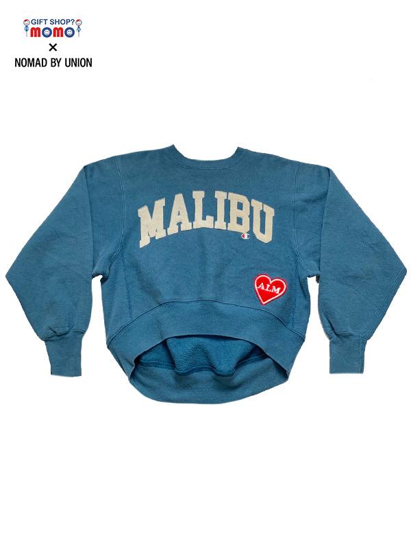 """画像1: 【ALM - ア ラブ ムーブメント】""""GIFT SHOP? momo × NOMAD BY UNION"""" Exclusive Custom """"MALIBU""""F / Steel Blue(スウェット/スティールブルー) (1)"""