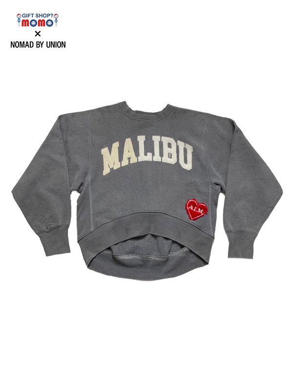 """画像1: 【ALM - ア ラブ ムーブメント】""""GIFT SHOP? momo × NOMAD BY UNION"""" Exclusive Custom """"MALIBU""""C / Navy (スウェット/グレー) (1)"""