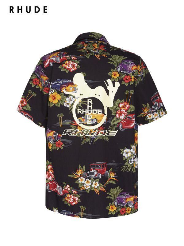 画像1: 30%OFF【RHUDE - ルード】Hawaiian Shirt Girl / Black(シャツ/ブラック) (1)