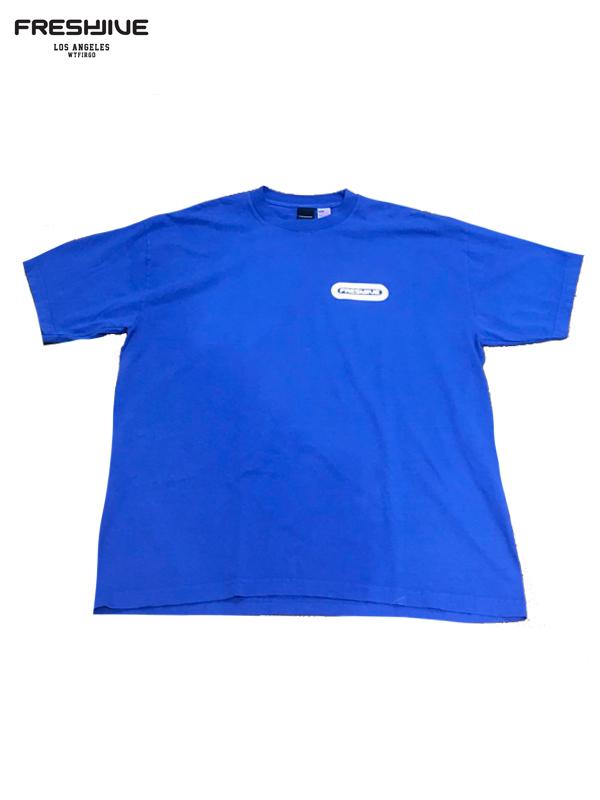 画像1: 【FRESHJIVE - フレッシュジャイブ】Pill Logo Tee / Blue (Tシャツ/ブルー) (1)