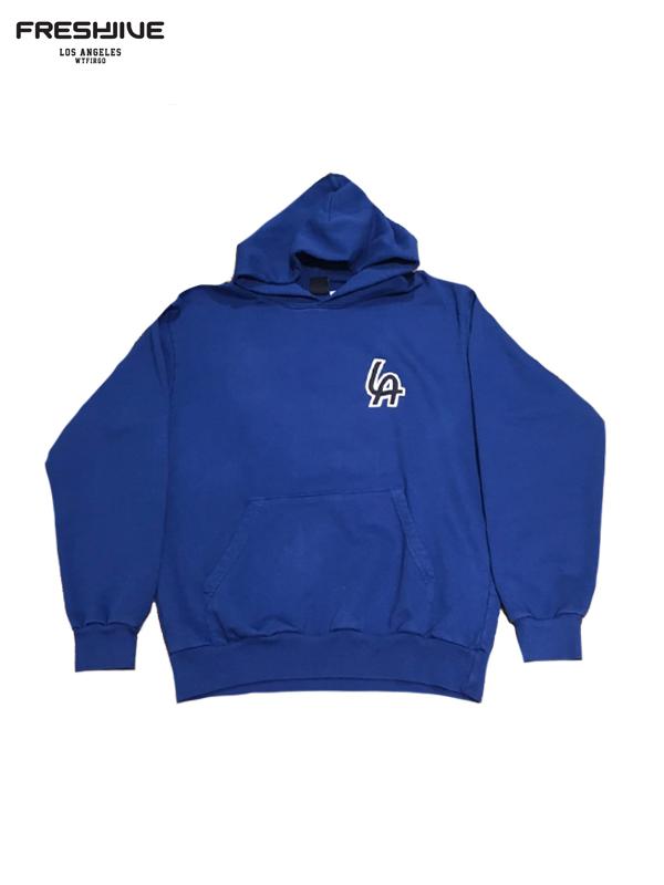 画像1: 【FRESHJIVE - フレッシュジャイブ】L.A Emblem Hood / Blue(パーカー/ブルー) (1)