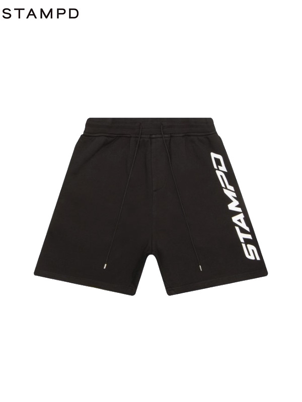 画像1: 【STAMPD - スタンプド】Sebrin Jogger Shorts/ Black (ボトムス/ブラック) (1)
