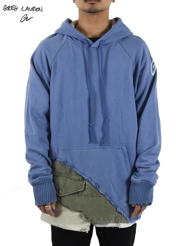 画像1: 【GREG LAUREN - グレッグローレン】50/50 Blue / Army Gl Hoodie (パーカー/ブルー/アーミー) (1)